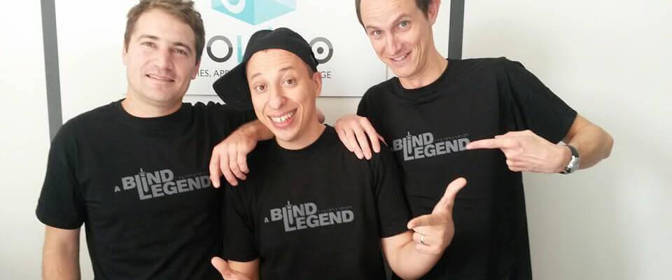 De gauche à droite : Jérôme, Nordine et Pierre-Alain, l'équipe A Blind Legend