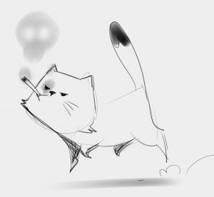 Smokitten, sketch