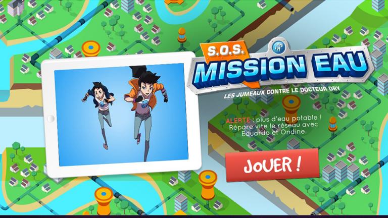 Serious game RSE et Developpement durable, SOS MISSION EAU réalisé par DOWINO