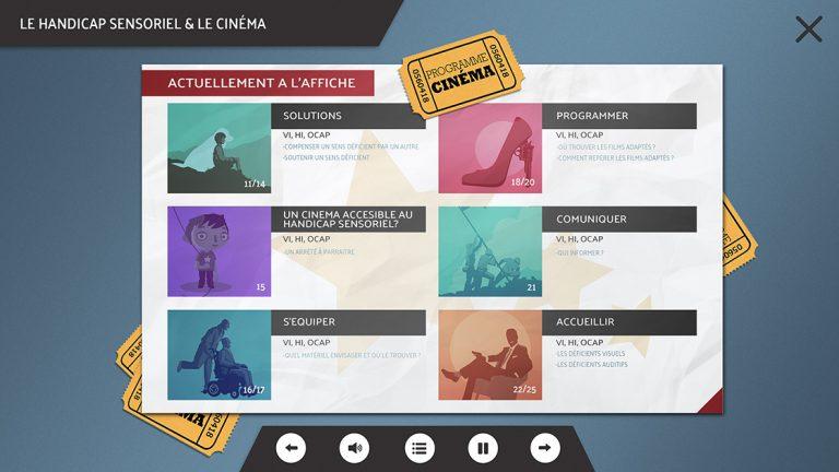 Projet de Digital Learning, Cinéma Accessible, réalisé par Dowino