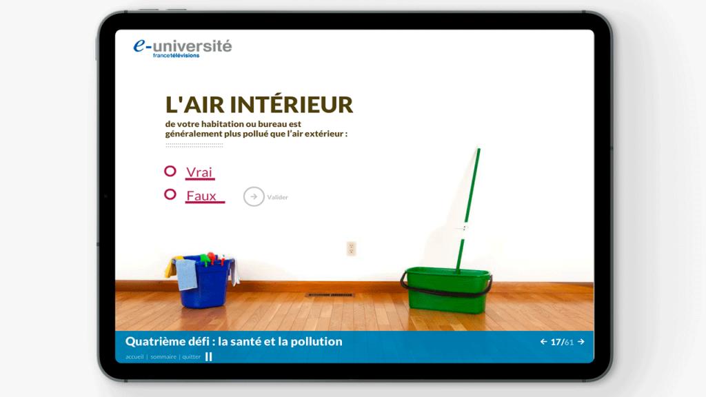 Projet de Digital Learning, France TV DD, réalisé par Dowino