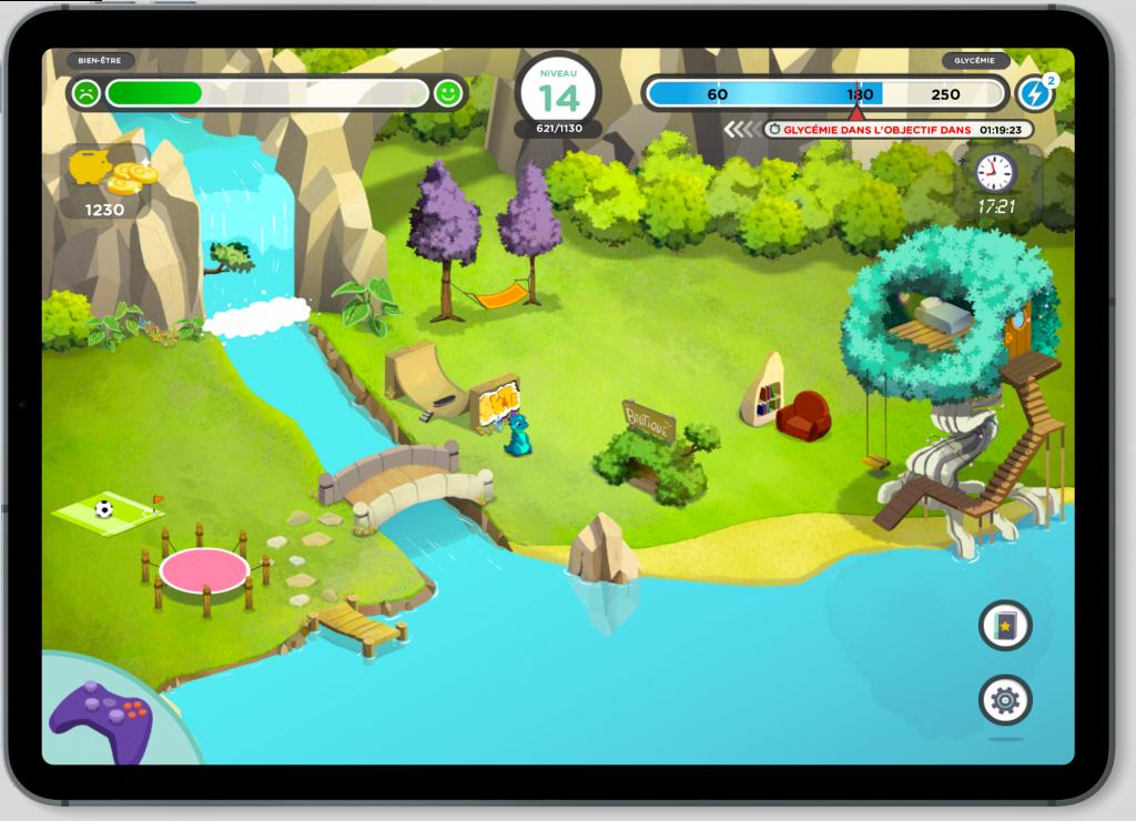Projet de Serious Game, Glucozor, réalisé par Dowino