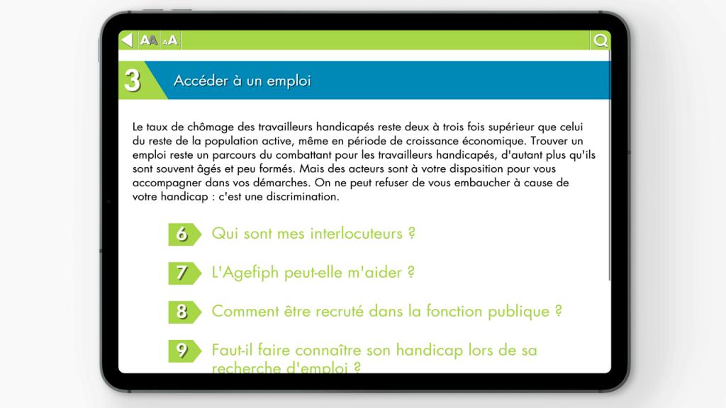 Projet d'Application, Handicap et Travail, réalisé par Dowino