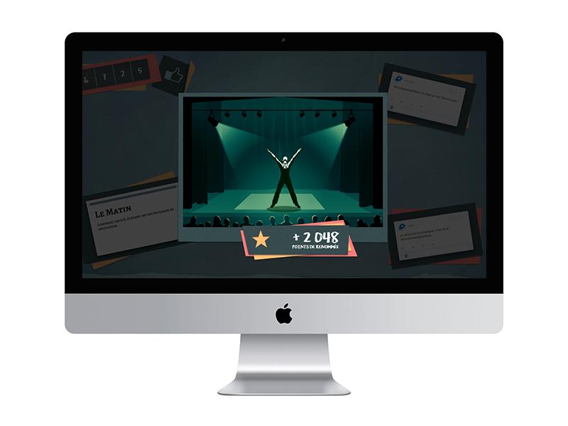 My dance company est un serious game réalisé par DOWINO
