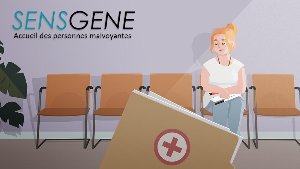 Projet de film pédagogique, SENSGENE accueil des personnes malvoyantes en milieu hospitalier par DOWiNO
