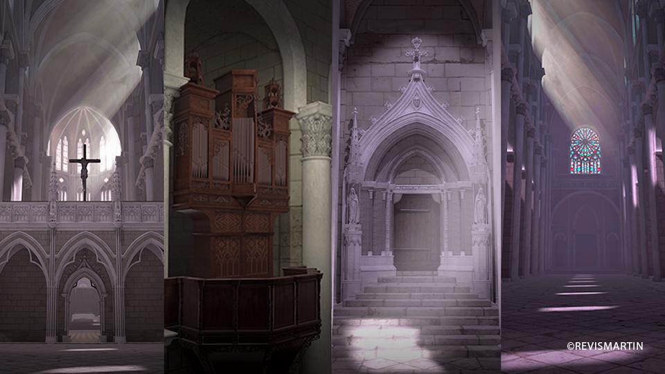 Serious game en VR (réalité virtuelle); OKEGAME propose une visite en VR d'une église disparue, DOWINO