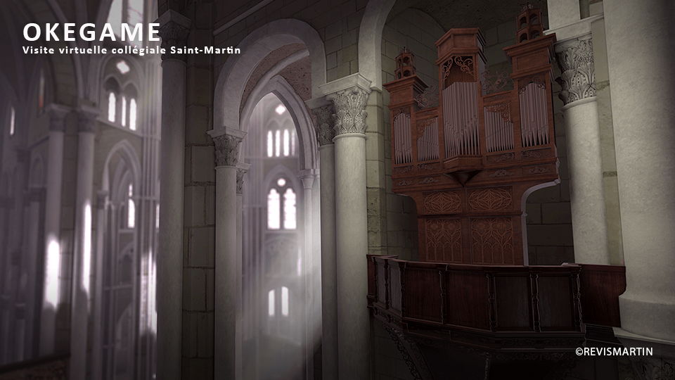 Serious game VR réalisé par DOWINO, OKEGAME propose une visite virtuelle de la collégiale saint-martin
