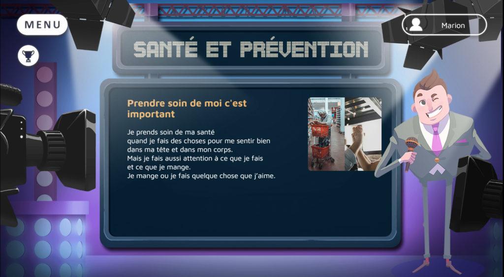 QUIZ SANTE, un serious game santé pour prevenir le cancer, par DOWINO