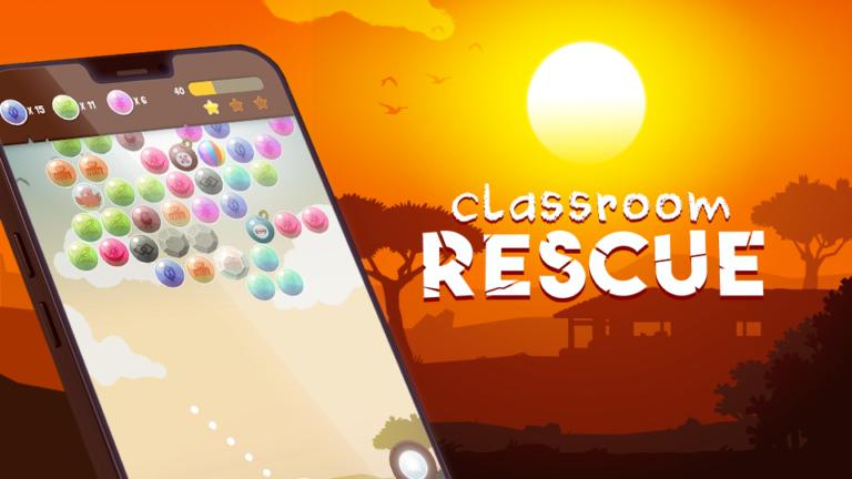Réalisé par DOWiNO, Classroom rescue est un serious game qui sensibilise aux problématiques de l'accès à une éducation de qualité dans le monde