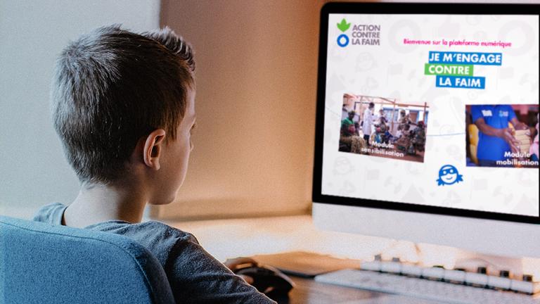 plateforme digitale de blended learning réalisée par DOWiNO, je m'engage contre la faim sensibilise aux actions d'ACF