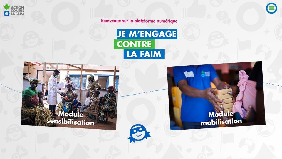 Réalisée par DOWiNO, la plateforme digitale Je m'engage contre la faim sensibilise à la faim dans le monde