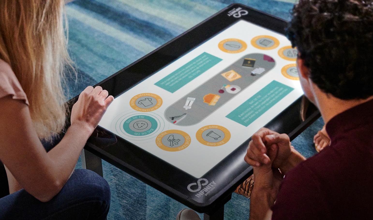 projet de gamification d'une visite pédagogique, SUEZ, outils multimédias réalisés par Dowino